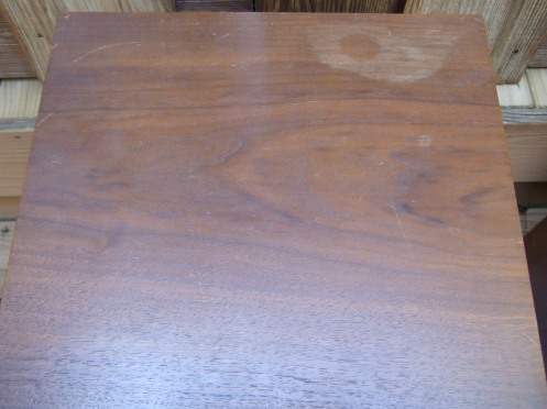 Water-damaged KLH veneer. Soon to get all better