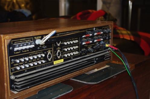 Sansui QR4500 rear panel. Note non-original power cord.