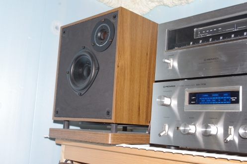 Design Source PS-10A speaker next to my Pioneer components