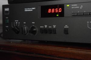 NAD 7240PE. Displaying radio station all the time on red LCD.
