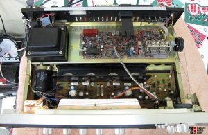 551 on the inside. Simple. Not a lot of big pieces needed to push 16 watts per channel. Also from Canuck Audio Mart.