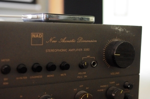NAD 3080 Detail. Typeface and color slightly different than in later models