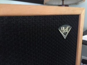 Klipsch Cornwall Detail - logo and custom grille on bullnose