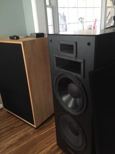 Klipsch Tangent next to the Cornwalls