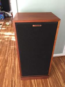 Klipsch Forte II in Walnut. Beautiful shape, beautiful sound